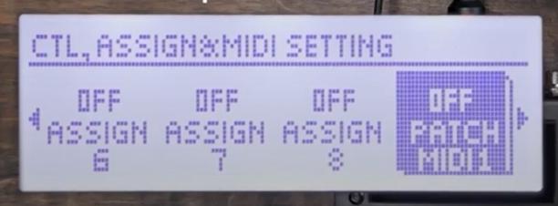 MS-3 CTL. Assign, MIDI setting